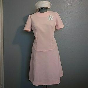 60's Mod Pink Dress